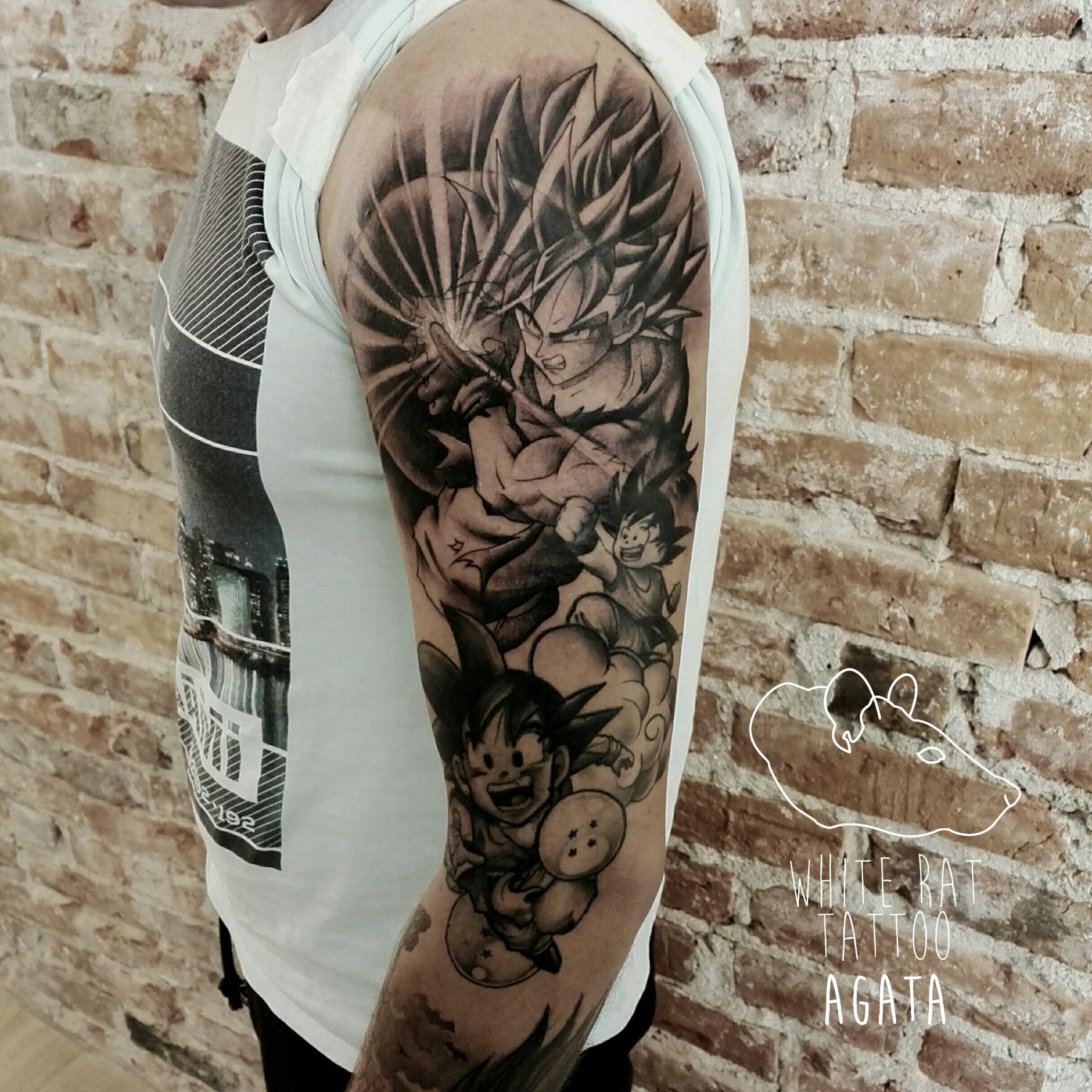 Studio Tatuażu Warszawa Agata Kacperczyk Tatuaż Dragon Ball