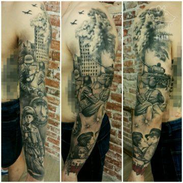 Studio tatuażu Warszawa Agata Kacperczyk tatuaż Powstanie Warszawskie
