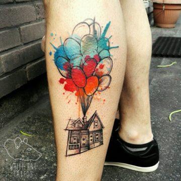 Studio tatuażu Warszawa Agata Kacperczyk tatuaż balony