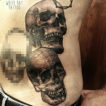 Studio tatuażu Warszawa Agata Kacperczyk tatuaż czaszki