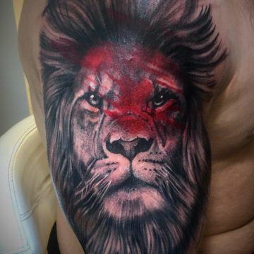 Studio tatuażu Warszawa Agata Kacperczyk tatuaż lew
