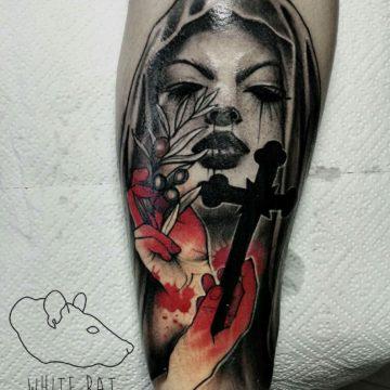 Studio tatuażu Warszawa Agata Kacperczyk tatuaż zakonnica