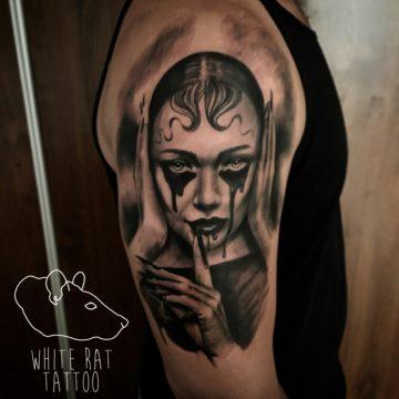 Studio tatuażu Warszawa Krzysztof Jakubowski tatuaż kobieta