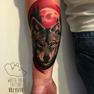 Studio tatuażu Warszawa Krzysztof Jakubowski tatuaż wilk 4
