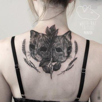 Studio tatuażu Warszawa Monika Michniewicz tatuaż koty