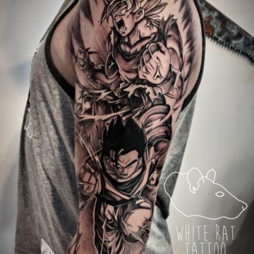 Agata Kacperczyk Studio Tatuażu Warszawa White Rat Tattoo Tatuaż Dragon Ball Walka