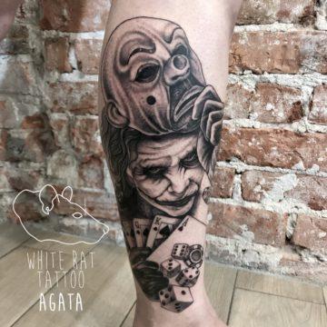 Agata Kacperczyk Studio Tatuażu Warszawa White Rat Tattoo Tatuaż Joker