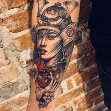 Agata Kacperczyk Studio Tatuażu Warszawa White Rat Tattoo Tatuaż Realistyczny Twarz Kobiety