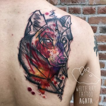 Agata Kacperczyk Studio Tatuażu Warszawa White Rat Tattoo Tatuaż Sketch wilka (2)