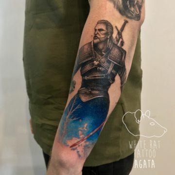 Agata Kacperczyk Studio Tatuażu Warszawa White Rat Tattoo Tatuaż Wiedźmin