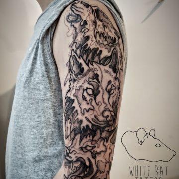 Agata Kacperczyk Studio Tatuażu Warszawa White Rat Tattoo Tatuaż Wilków