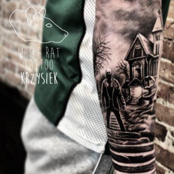 Krzysztof Jakubowski Studio Tatuażu Warszawa White Rat Tattoo Tatuaż Horror