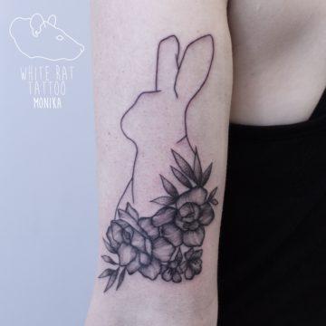 Monika Michniewicz Studio Tatuażu Warszawa White Rat Tattoo Tatuaż Królik