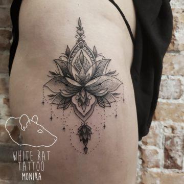 Monika Michniewicz Studio Tatuażu Warszawa White Rat Tattoo Tatuaż Mandala