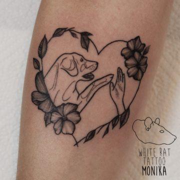 Monika Michniewicz Studio Tatuażu Warszawa White Rat Tattoo Tatuaż Piesek